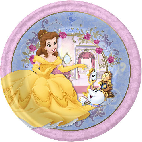 "Beauty And The Beast Belle 8"" Round Edible Cake Topper #3"