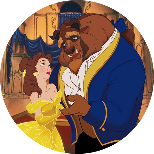"""Beauty And The Beast 8"""" Round Edible Cake Topper #5"""