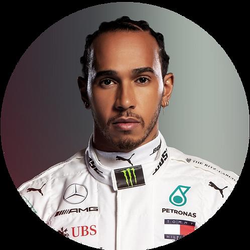 """Lewis Hamilton Formula One 8"""" Round Edible Cake Topper"""
