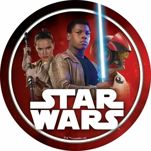 """Star Wars Heroes 8"""" Round Edible Cake Topper"""