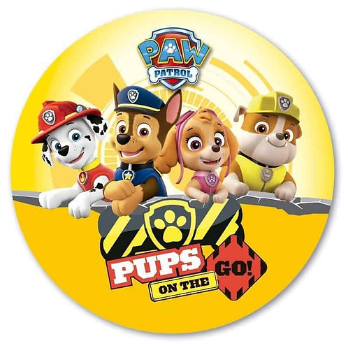 """Paw Patrol Pups On The Go 8"""" Round Edible Cake Topper"""