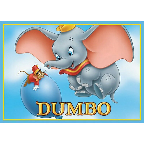 Dumbo Edible A4 Sized Cake Topper