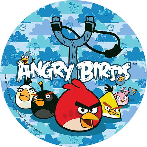 """Angry Birds 8"""" Round Edible Cake Topper #2"""