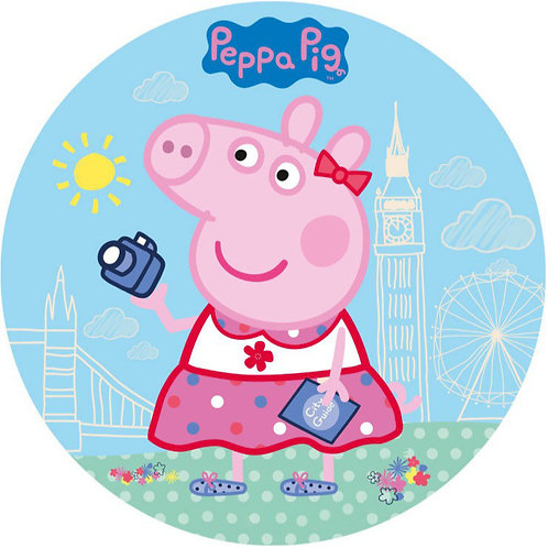 """Peppa Pig 8"""" Round Edible Cake Topper"""