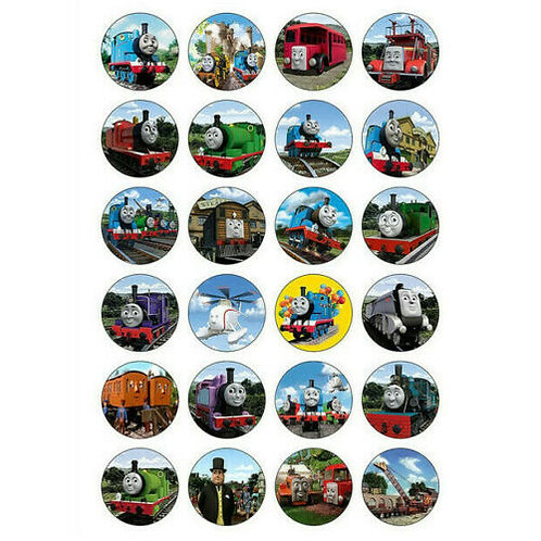 24 x Thomas The Tank Engine Edible Cupcake Toppers