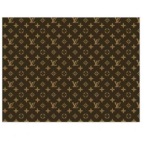 Louis Vuitton Brown Patterned Edible A4 Sized Cake Topper