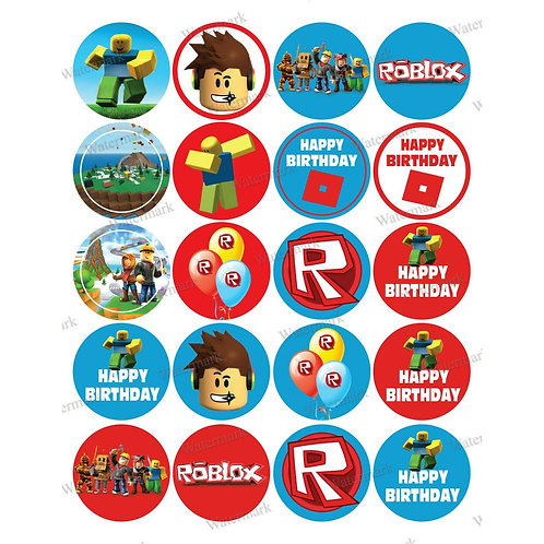 20 x Roblox Edible Cupcake Toppers