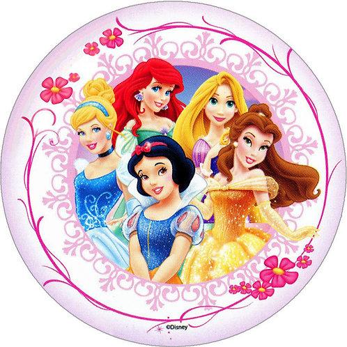 "Princesses 8"" Round Edible Cake Topper #2"