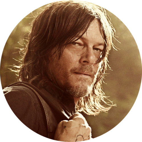 "The Walking Dead Daryl Dixon 8"" Round Edible Cake Topper"