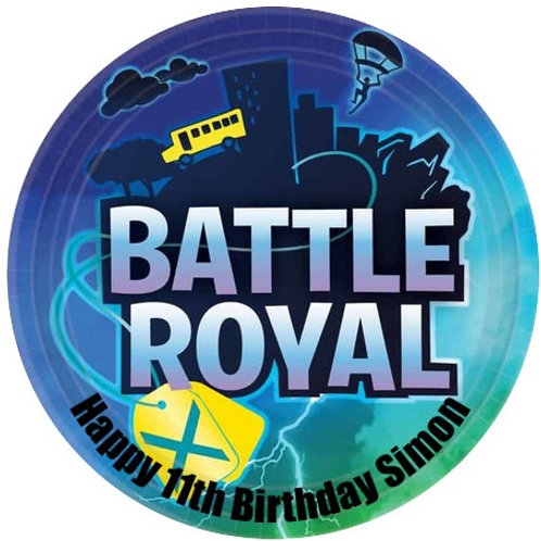 """Battle Royal Personalised 8"""" Round Edible Cake Topper"""