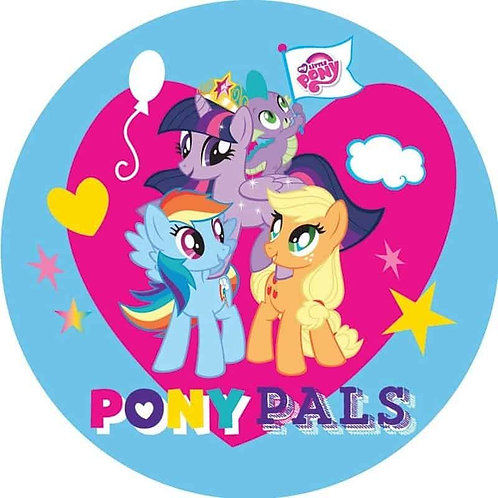"""My Little Pony 8"""" Round Edible Cake Topper"""