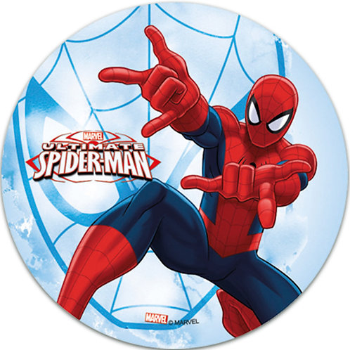 "Spiderman 8"" Round Edible Cake Topper #2"