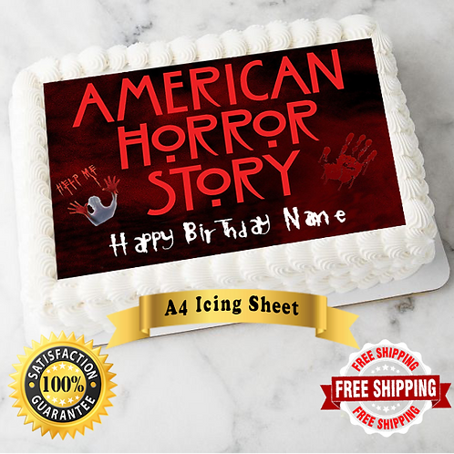 American Horror Story Personalised Edible A4 Sized Cake Topper