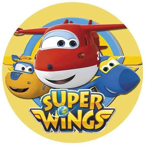"""Superwings 8"""" Round Edible Cake Topper #2"""