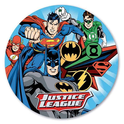 """Justice League 8"""" Round Edible Cake Topper"""