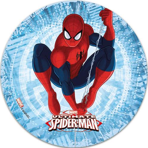 "Spiderman 8"" Round Edible Cake Topper #5"