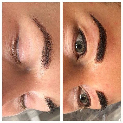 Color boost on existing brows