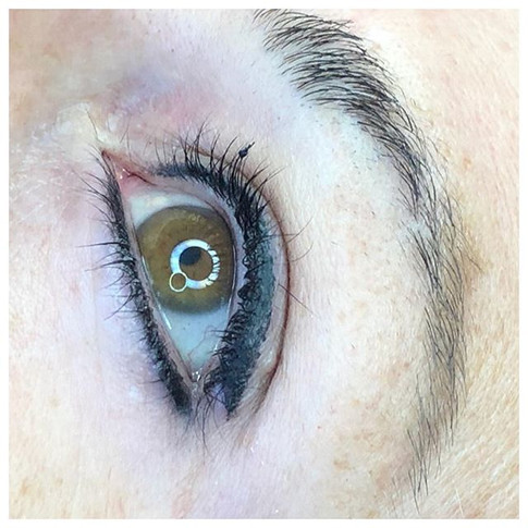 Winged upper + lower eyeliner
