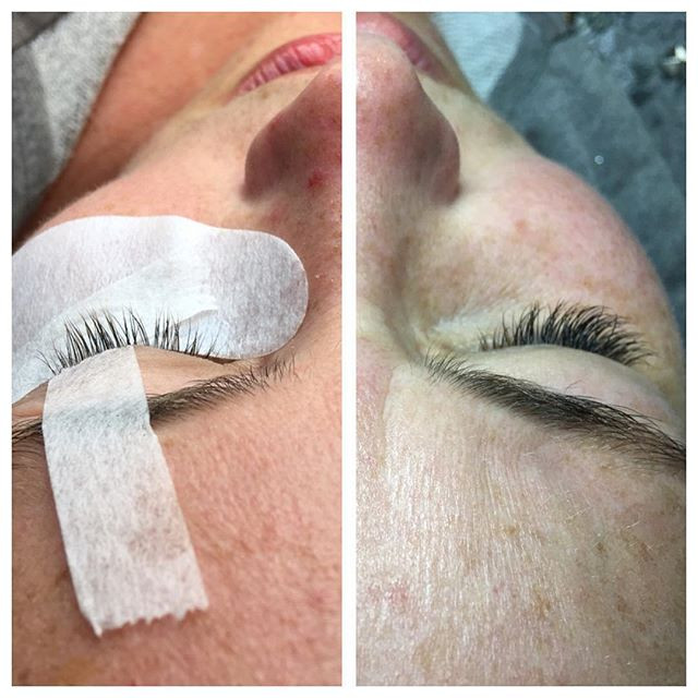 Before & after natural classic  Lash extensions