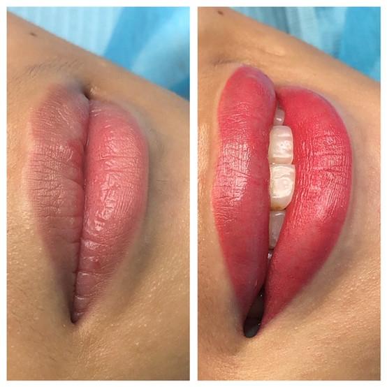 Soft blush lips