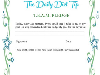 The Daily Diet Tip Pledge for Weight Loss Success