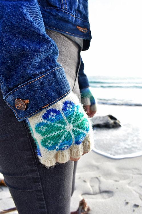 Fiesta Flooers Fingerless Gloves