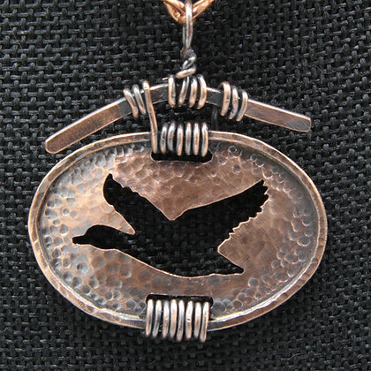 Mallard copper necklace
