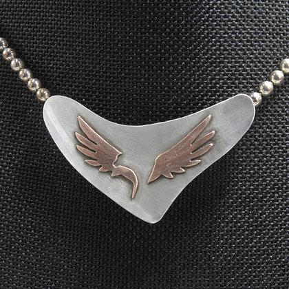 Eagle Copper on Silver pendant
