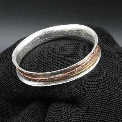 Silver spinner bangle
