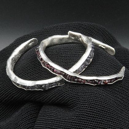 Silver gem cuff bracelet