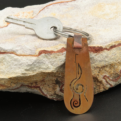 Guitar and clef fob