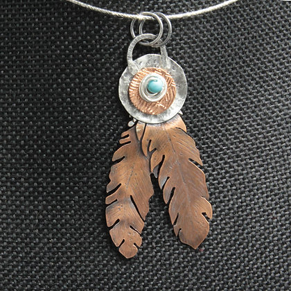 2 feather pendant