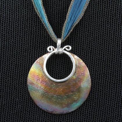 Boho circle necklace
