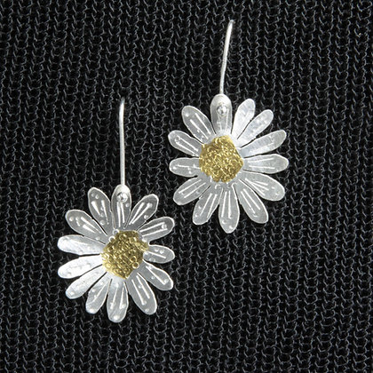 Daisy silver/gold earrings