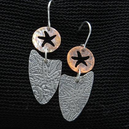 Copper star fish and silver shield