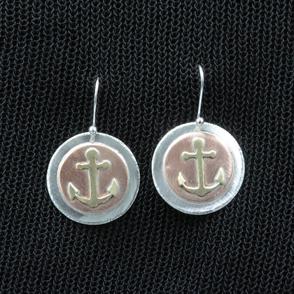 Anchor no rope earrings