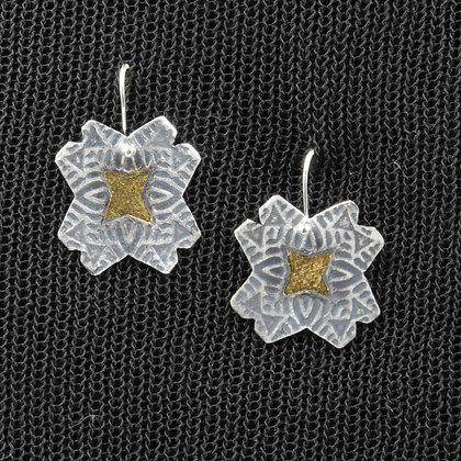 Keum boo diagonal earrings