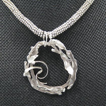 Seaweed circle pendant-large