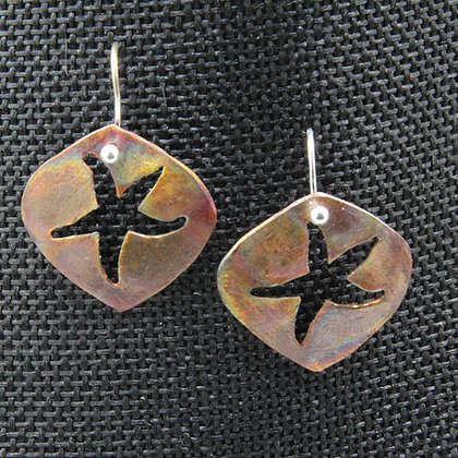 Starfish brass, bronze, copper earrings