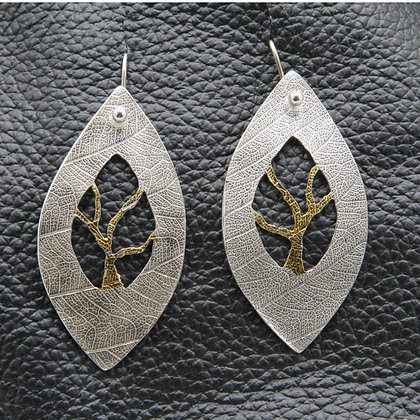 Leaves and trees earrings