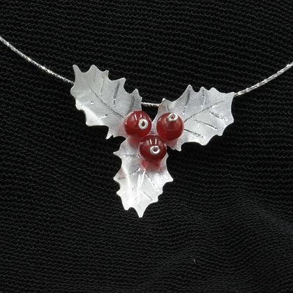 Holly berry pendant