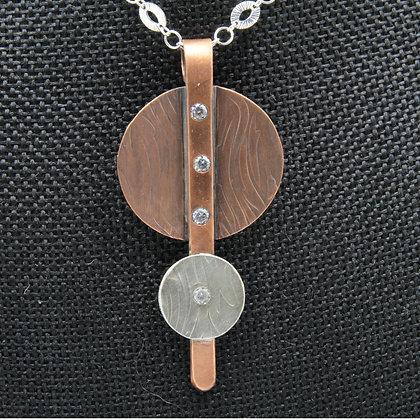 Flush set circles pendant