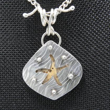 Starfish w/shell pendant