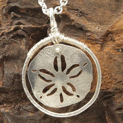 Sand $ hooped pendant