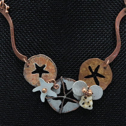 Three sand dollar necklace