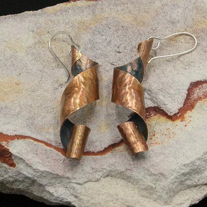Ribbons large earrings