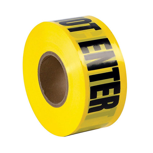 BARRICADE TAPE BLACK ON YELLOW