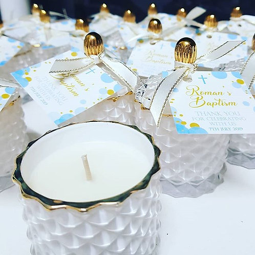 Luxury Scented Candle Favours - 100ml Baptism Favours, Baby Shower