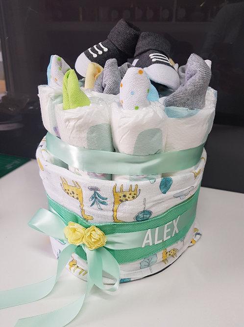 Celebrate Baby Nappy Cake - 2 Tier