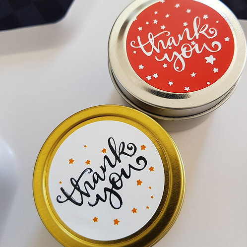 Starry 'Thank you' Candle Favours - 2oz Candle Tin